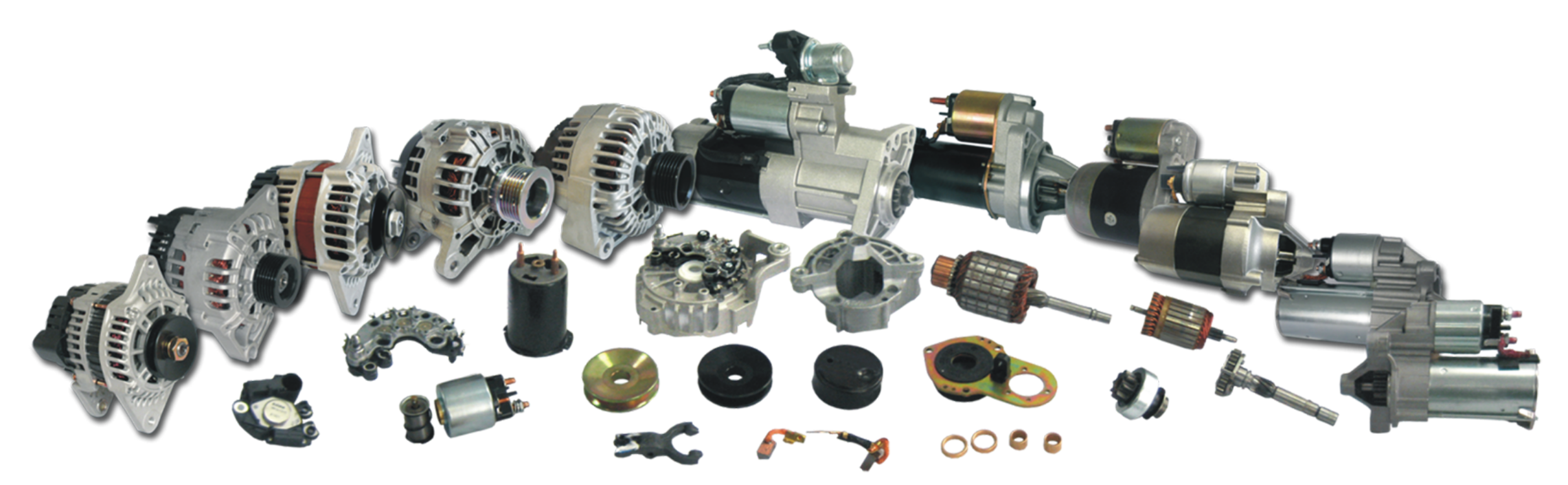 STARTER MOTORS AND ALTERNATORS